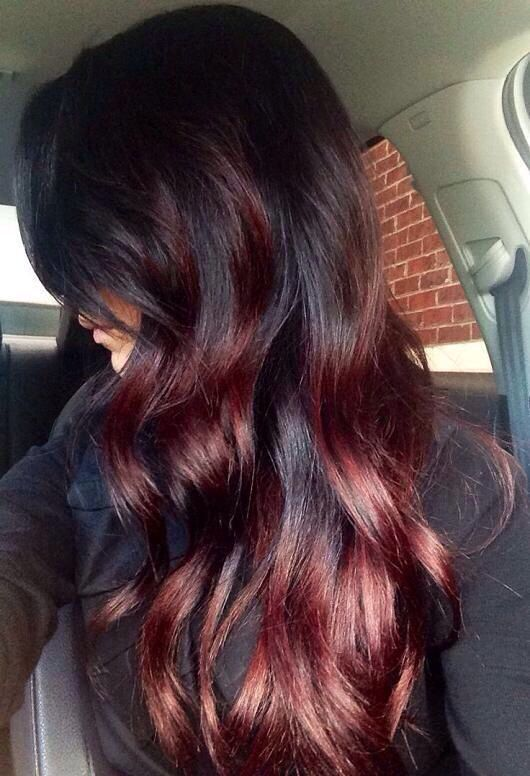 Hair Dye Ideas For Dark Hair Hairstyles Hair Color For Long