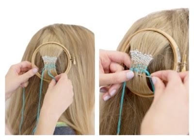 Tapiz de macrame para el pelo tutorial