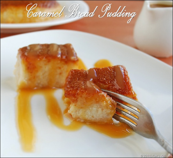 Caramel bread pudding eggless bread pudding recipe raks kitchen eggless caramel bread pudding recipe forumfinder Image collections