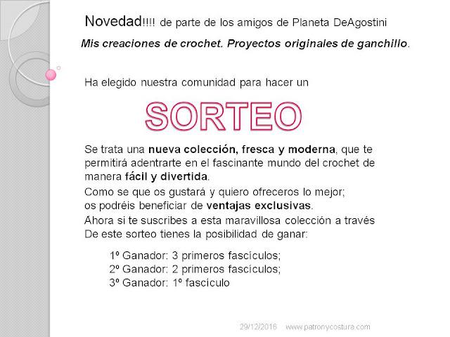 www.patronycostura.com/SORTEO Mis creaciones de crochet