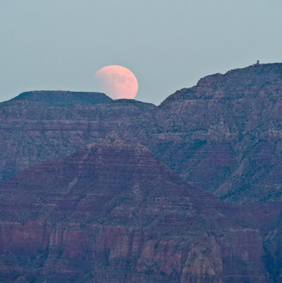 Blood Moon over the Grand Canyon