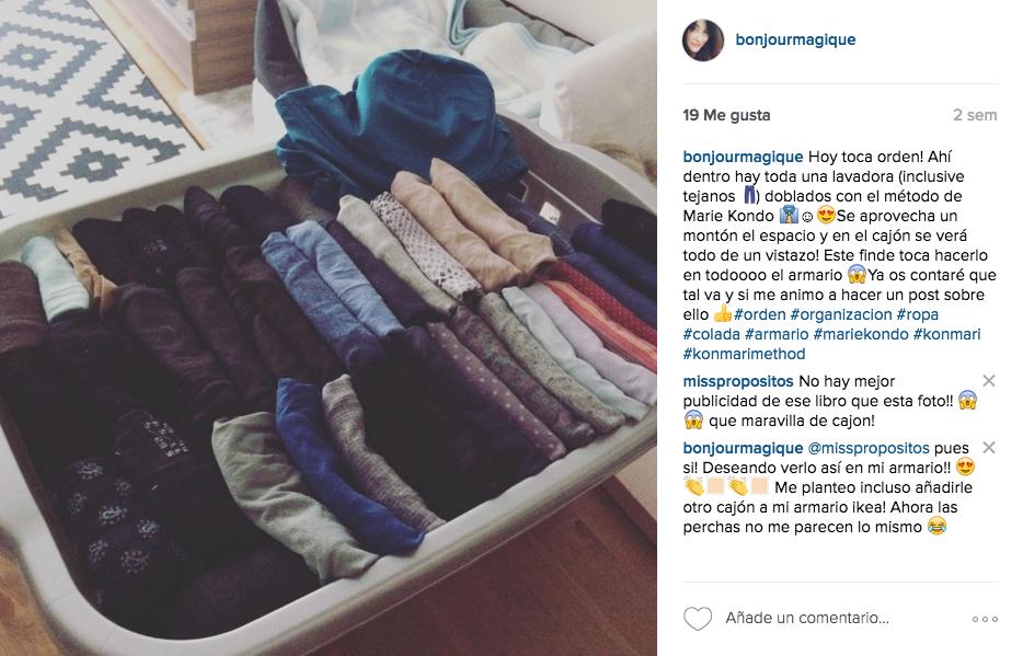 Bonjour magique pon orden en tu armario - Marie kondo doblar ropa ...