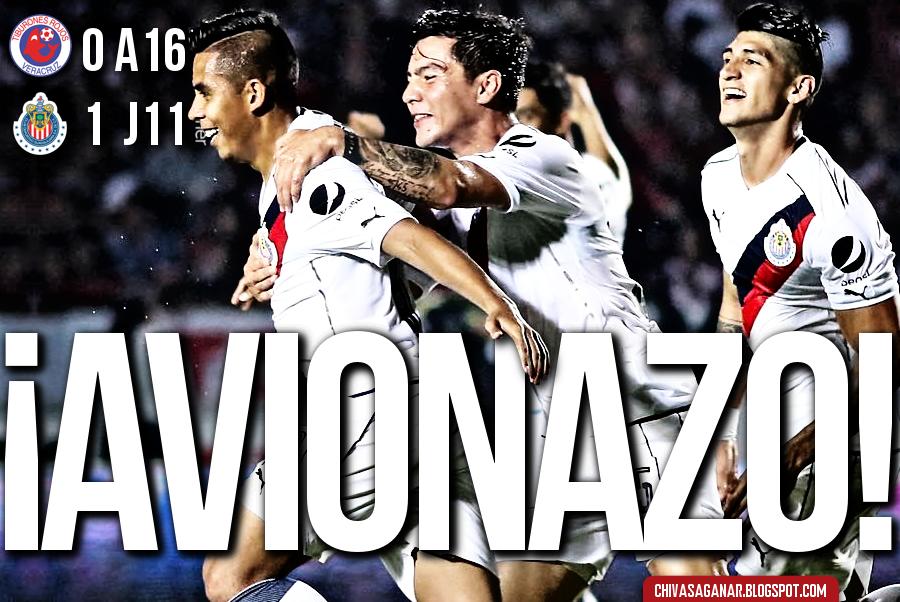 Liga MX : CD Tiburones Rojos de Veracruz 0-1 CD Guadalajara - Apertura 2016 - Jornada 11.