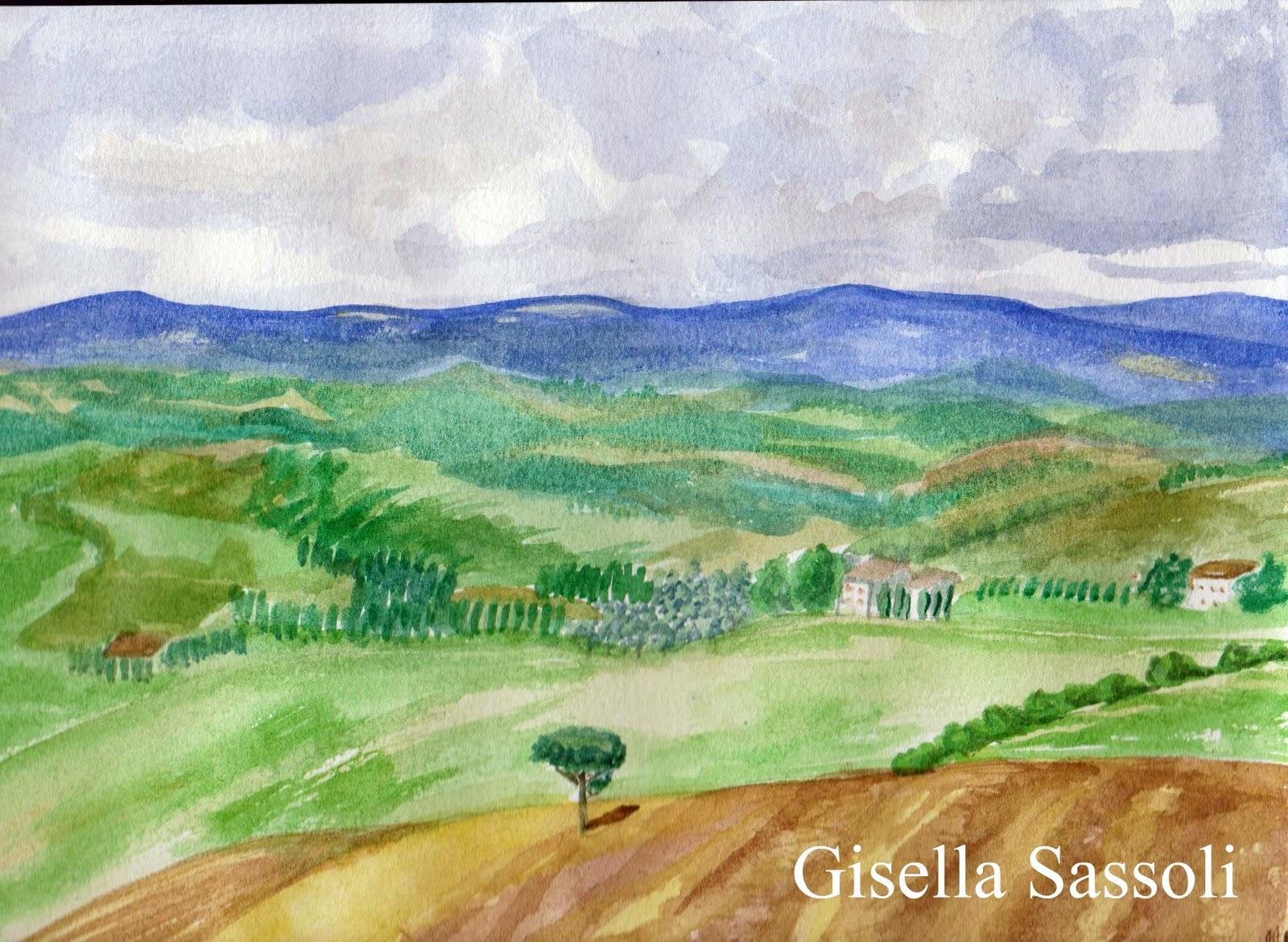 GISELLA SASSOLI acquerelli novembre 2011