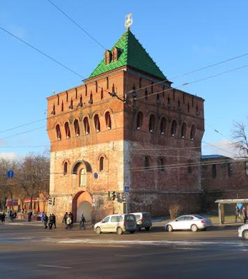 Нижегородский кремль. Дмитриевская башня.