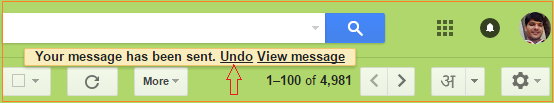 undo sent mail in gmail