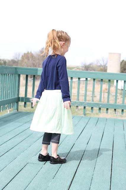 Girls Simple Skirt Free Tutorial