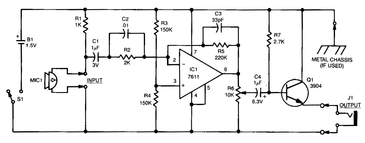 cl b audio amplifier circuit diagram