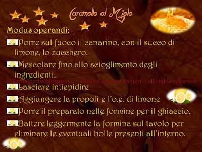 Caramelle al Miele ©dierbainerba.blogspot.it – Maria Caterina Ranieri – all rights reserved