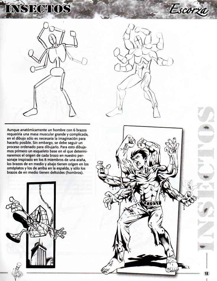 Como dibujar hibridos hombre insecto