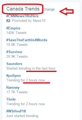 get trending hashtags on Twitter