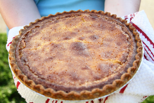 Buttermilk Pie recipe from Southern Bite