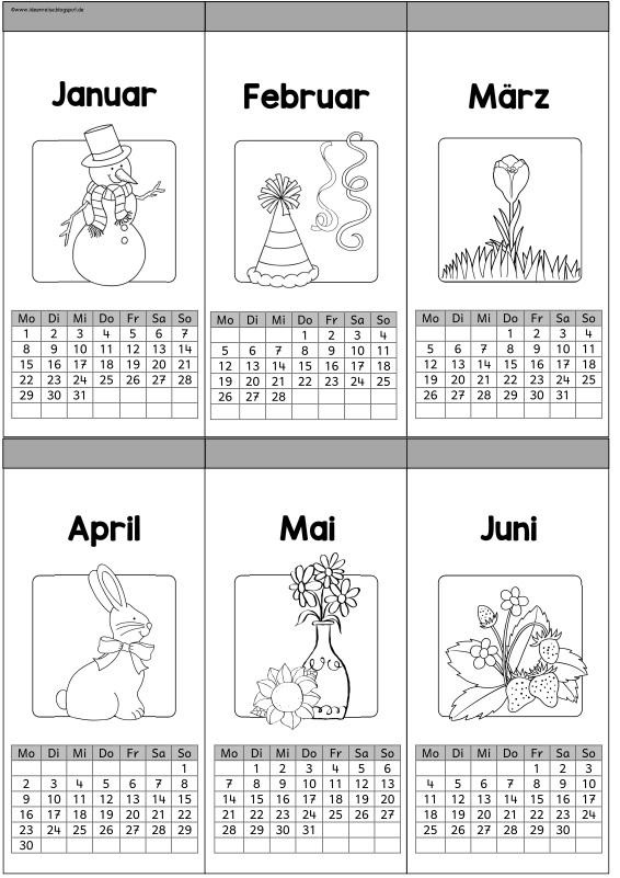 Wunderbar Malvorlagen Kalender Zeitgenössisch - Ideen färben ...