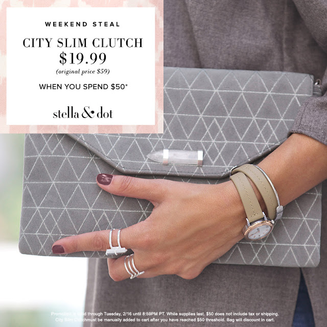 Stella & Dot City Slim Clutch - President's Day Special