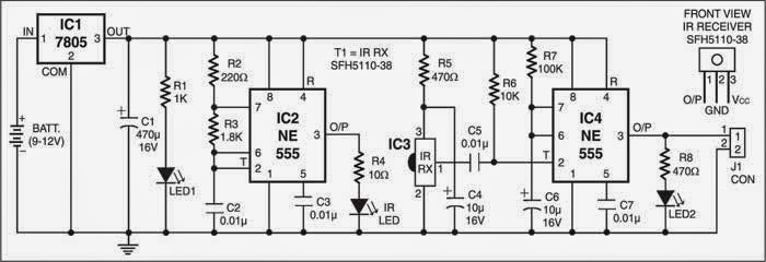 Infrared Proximity Detector Circuit Diagram