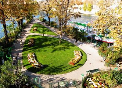 Parc du Vert Galant ile de la cite