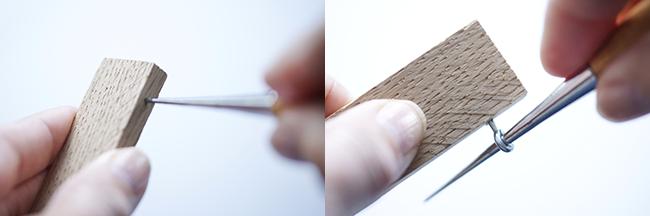 Ynas Design Blog | DIY Holzrahmen | das Eindrehen der Ringschrauben