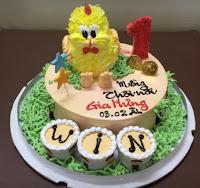 Bánh kem chú gà con