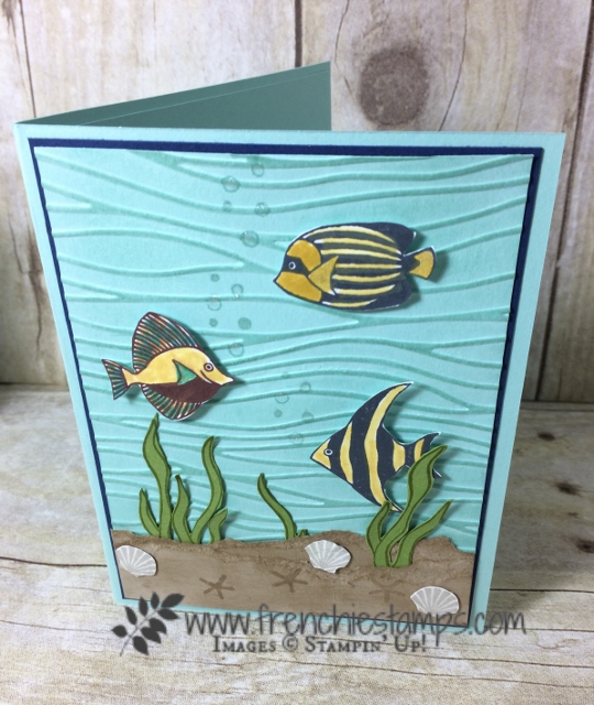 Big mouth fish, Seaside Shore, Stampin'Up!
