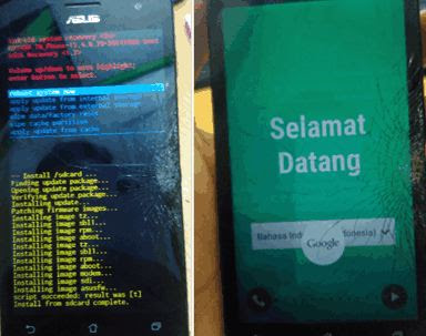 cara flash asus zenfone 5 t00j t00f Tanpa PC (via sd card)