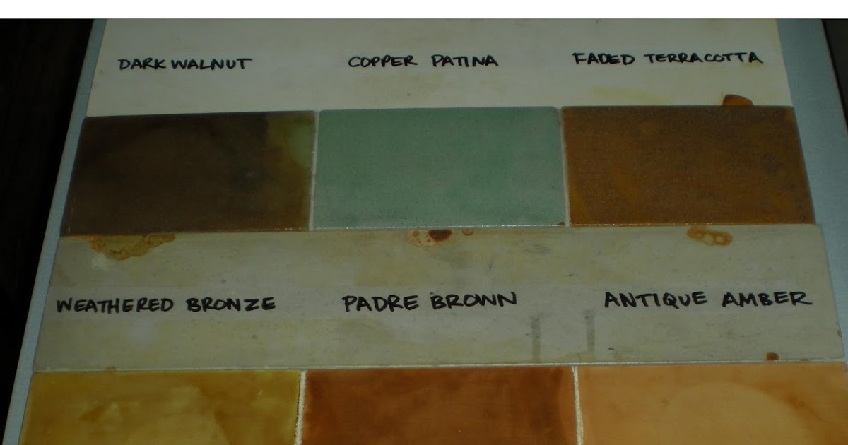 MODE CONCRETE Concrete Acid Stain Color Chart - created by MODE