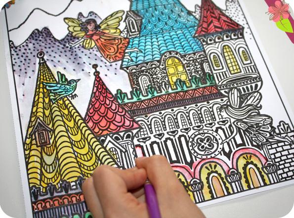 La peinture magique : Les palais des fées - Usborne