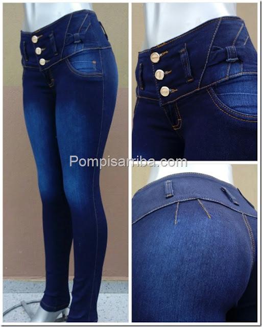 Pantalones colombianos de mayoreo baratos, Jeans levanta cola para dama