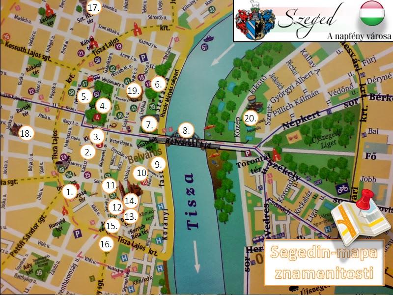 beograd segedin mapa SuperSweetSisters: TURISTIČKE ATRAKCIJE I ZNAMENITOSTI SEGEDINA  beograd segedin mapa