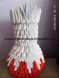 Jak zrobić prosty wazon z origami 3d, modułowego, segmentowego ?