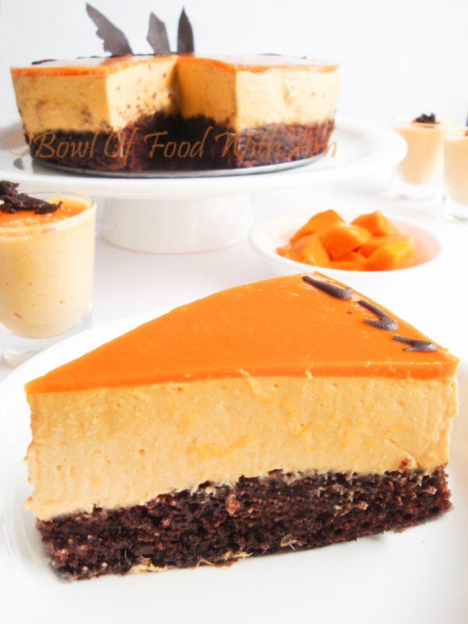 Eggless Mango Mousse Cake Recipe | Eggless Mango Mousse Cake