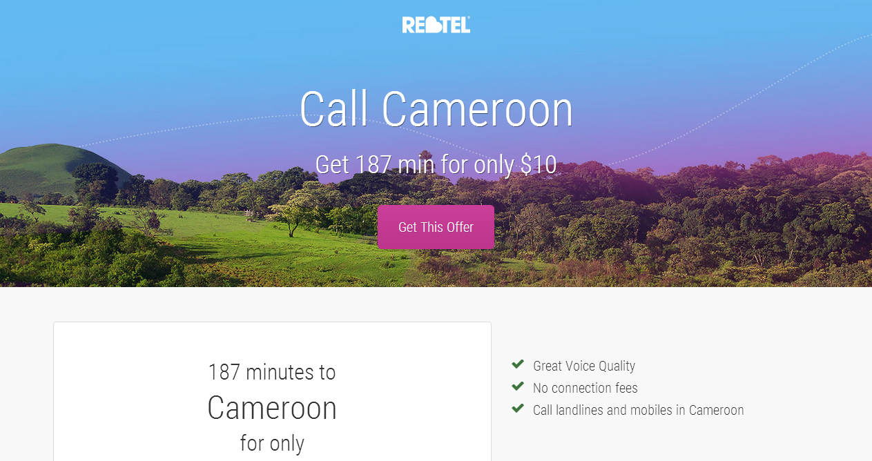 Call Cameroon for free and get cheap call minutes