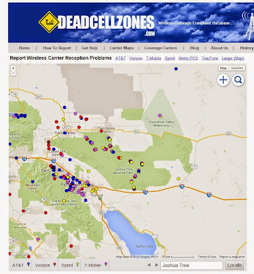 Joshua Tree Dead Zones Map