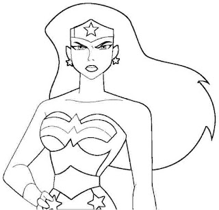 Desenhos da Mulher Maravilha para colorir, pintar, imprimir! Moldes e riscos da mulher maravilha