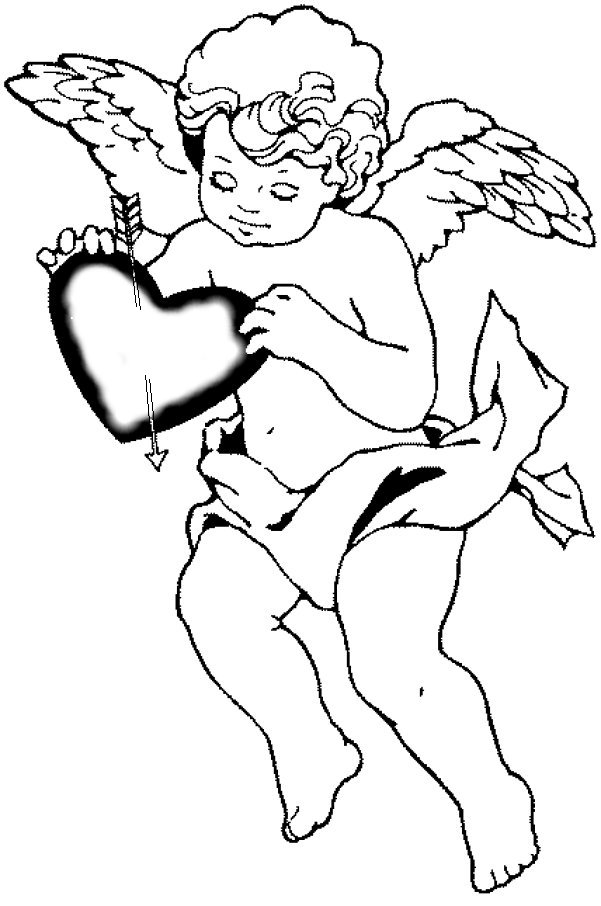 valentine cupid coloring pages - photo #1