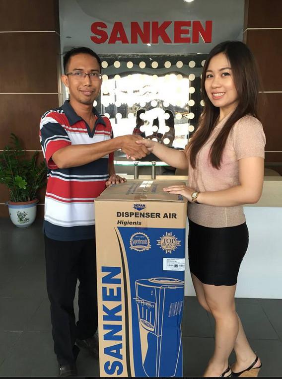 Pemenang Dispenser Sanken HWE-69C di Kuis #SankenKickAndy