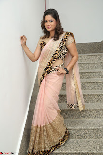 Shilpa Chakravarthy in Lovely Designer Pink Saree with Cat Print Pallu 020.JPG