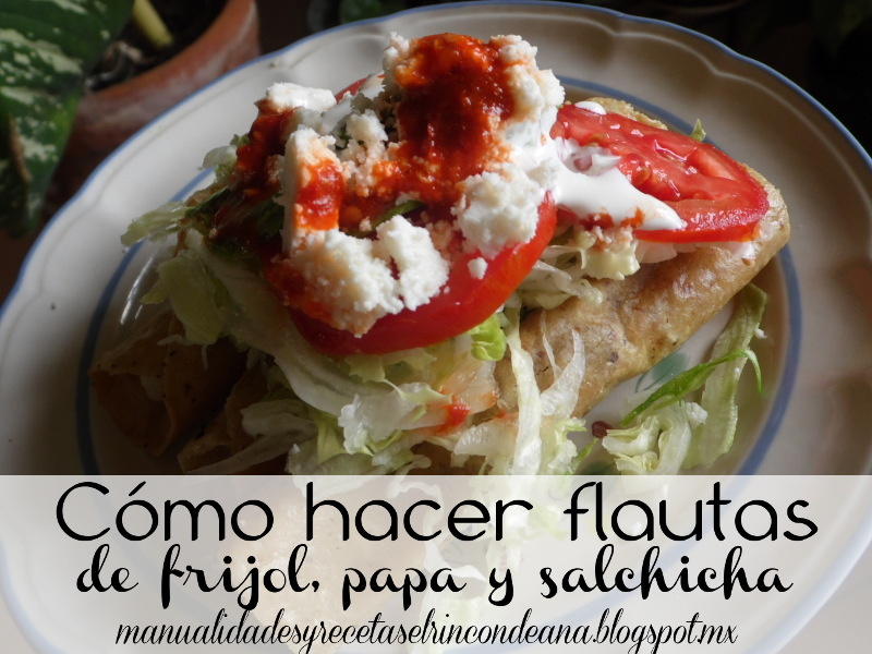 Flautas, comida tradicional mexicana
