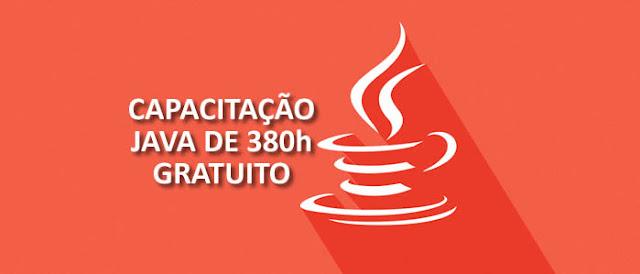 Quer aprender Java de maneira gratuita? veja então uma capacitação de 380h [ Com certificado ].