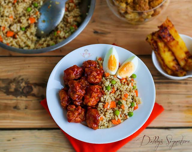 brown cocounut rice