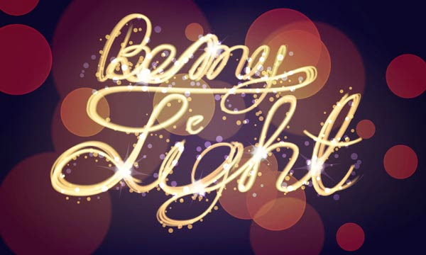 Create a Light Painting, Bokeh Effect in Illustrator