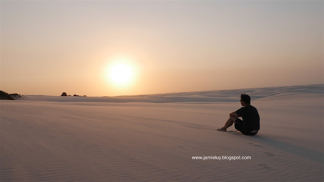 Sunset at Lencois Maranhenses, Barreirinhas, Brazil Travel