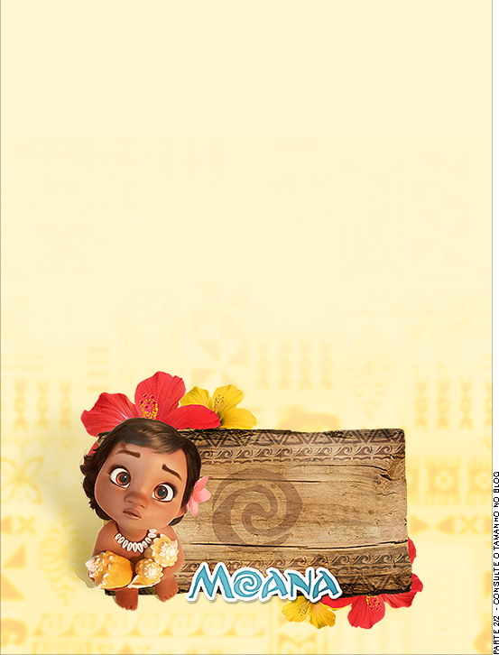 moana baby free printable invitations