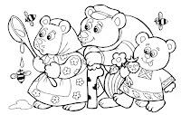 זהבה ושלושת הדובים לצביעה