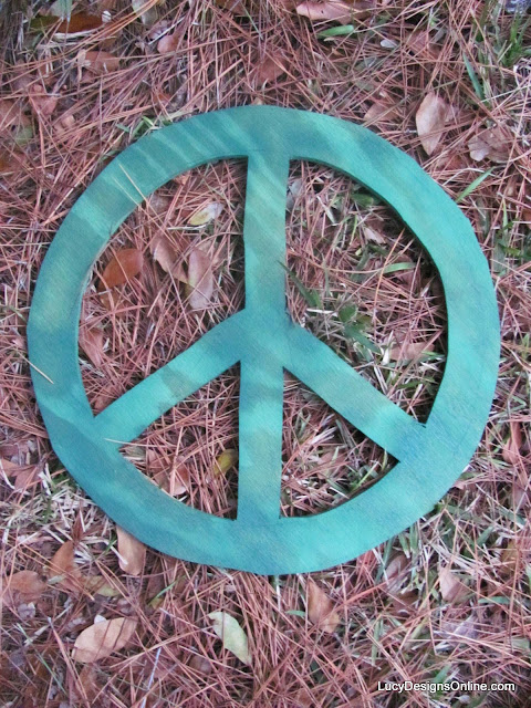 peace sign wood wreath