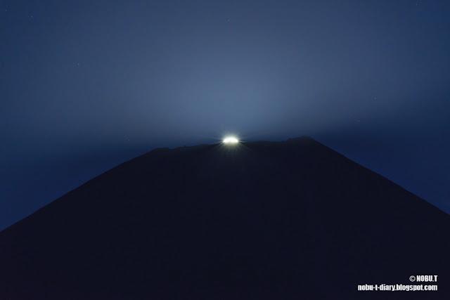 月の出のパール富士~朝霧高原