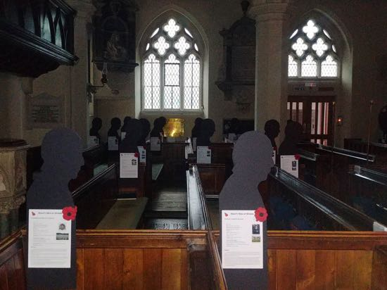 Silhouettes at St Mary's Church  Image by  the North Mymms History Project