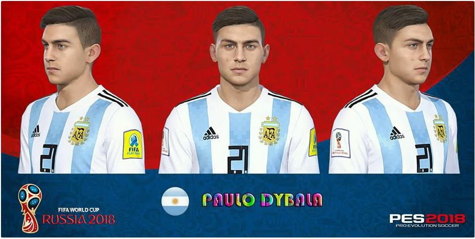 PES 2018 Dybala Face Update by Messi Pradeep