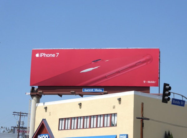 Apple iPhone 7 Red billboard