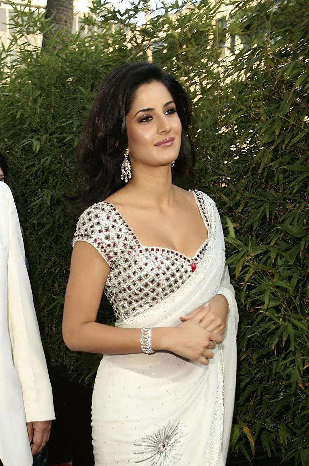 Katrina Kaif Sexiest Cleavage Show In Saree - Hd Latest -1840